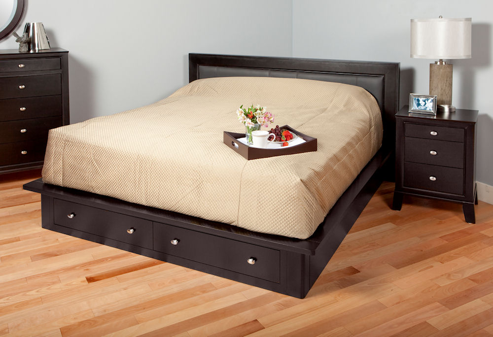 3062SD platform bed with storage drawers