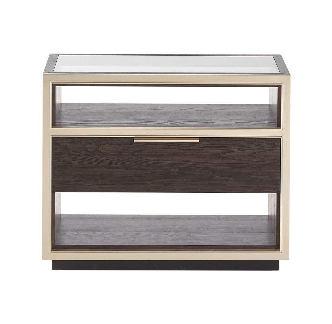 10 Bedside Table with Glass Top